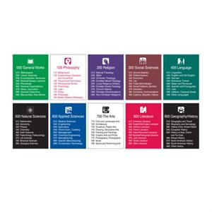 Brodart Sign Shop Ensembles de panneaux de classification décimale Dewey