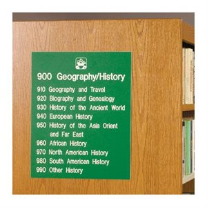 Brodart Sign Shop Signe individuel de classification décimale Dewey