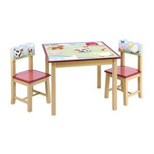 """TABLE ET CHAISES """"LA FERME"""""""