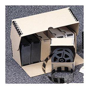 Boîte de rangement pour boîtes individuelles de microfilms