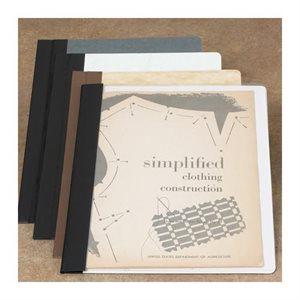 Brodart – Reliures de dépliants transparents à double couture d'une seule pièce
