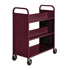 CHARIOT 4 TABLETTES INCLINÉES, 1 PLAT BAS, CHARCOAL