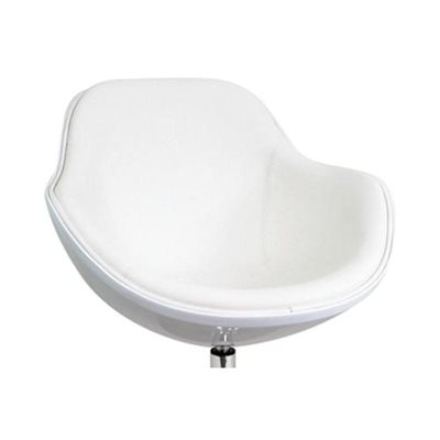 CHAISE COQUILLE REMBOURRÉE, BLANC