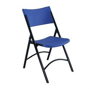 Chaises pliables moulées, Bleu