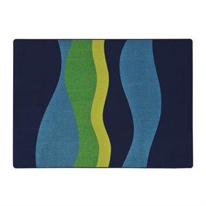 """Tapis """"Flow"""" rectangulaire 5'4"""" x 7'8"""" Bleu"""