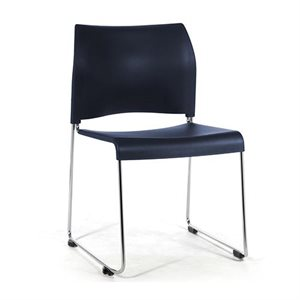 Chaise empilable Cafétorium 17 1 / 4 po H, Bleu marin