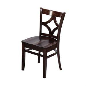 """Chaise à café en bois 18""""H / siège en bois"""