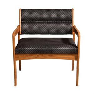 Chaise en bois Dakota Wave Designer tissu surdimensionné sièges