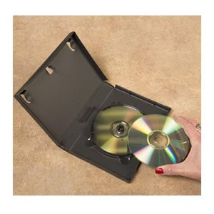 Boîtier DVD capacité 4 disques superposés, Noir