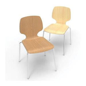 """Chaise Calyx de contreplaqué, Érable, 16"""""""
